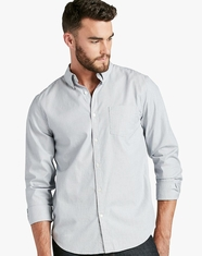 Lucky Brand Men's Long Sleeve White Label Striped Button Down Shirt - Blue (Closeout)
