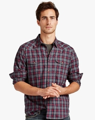 Lucky Brand Men's Underwood Western Shirt - Red/Grey