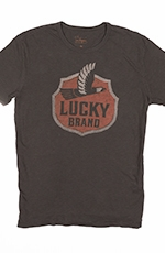Lucky Brand Mens Eagle Tee Shirt - Black