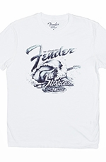 Lucky Brand Mens Fender Surf Tee Shirt - Lucky White