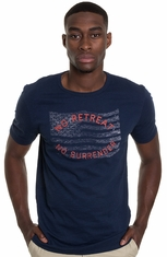 Lucky Brand Mens No Surrender T-Shirt - American Navy (Closeout)