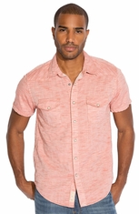 Lucky Brand Mens Short Sleeve Riley Western Shirt - Spice (Closeout)