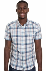 Lucky Brand Mens Short Sleeve Summer Western Shirt - Natural (Closeout)