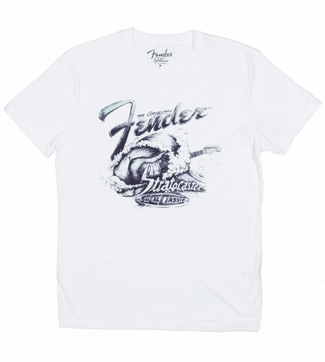 Lucky Brand Mens Fender Surf Tee Shirt - Lucky White (Closeout)