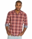 Lucky Brand Mens Trestles Plaid Western Shirt - Red (Closeout)