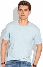 Lucky Brand Mens Weekend Crew Shirt - Sterling Blue (Closeout)