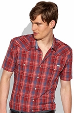 Lucky Brand Sawatch Plaid Western Shirt - Blue/Red