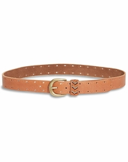 Lucky Brand Women's Beaded Keeper Belt - Tan