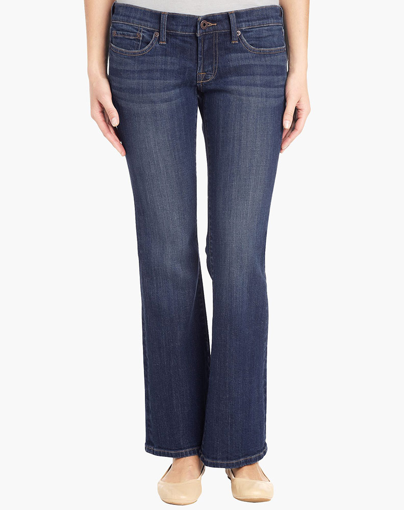 Lucky Brand Women's Easy Rider Mid Rise Relaxed Fit Boot Leg Jean - Tanzanite