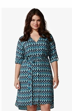 Lucky Brand Women's Plus Size Vailea Shirt Dress