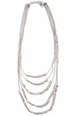Lucky Brand Women's Silver Tone Multi-Layer Necklace (Closeout)