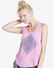 Lucky Brand Women's Sleeveless Print Tank Top - Violet