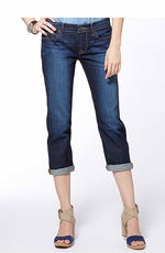 Lucky Brand Women's Sweet N Straight Crop Jeans - Dark Lorenzo