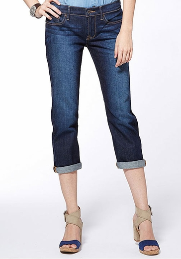 Lucky Brand Women's Sweet N Straight Crop Jeans - Dark Lorenzo (Closeout)
