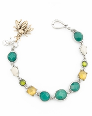 Lucky Brand Women's Two Tone Delicate Stone Bracelet (Closeout)