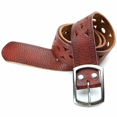 Lucky Brand Women's Woodland Cutout Belt - Brown (Closeout)