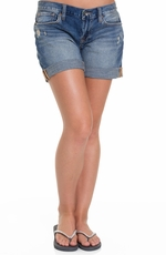 Lucky Brand Womens Abbbey Double Roll Shorts - Zuma Ridge