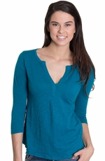 Lucky Brand Womens Bela Top - Ocean Depths (Closeout)