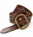 Lucky Brand McKenzie Perforated Studded Belt - Brown (Closeout)