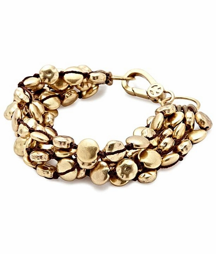 Lucky Brand Womens Gold Coin Bracelet