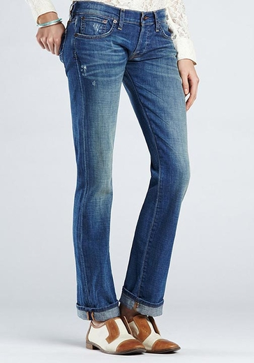 Lucky Brand Womens Jeans Sienna Tomboy - River (Closeout)