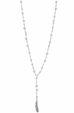 Lucky Brand Womens Metal Rosary Necklace