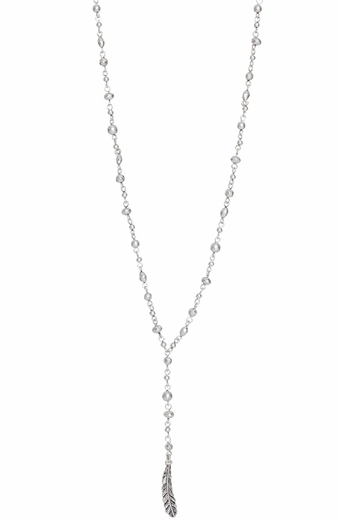 Lucky Brand Womens Metal Rosary Necklace (Closeout)