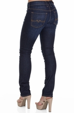 Lucky Brand Womens Sweet N Straight Jeans - Dark Carruth (Closeout)
