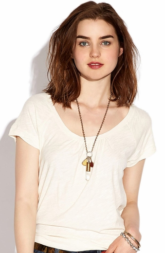 Lucky Brand Womens Alanna Button Top - Nigori (Closeout)