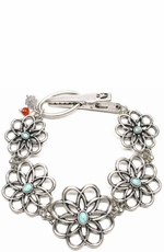 Lucky Women's Carved Flower Bracelet