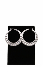 Lucky Women's Silver Tone Hoop Earrings