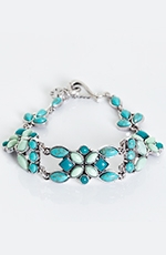Lucky Womens Flex Bracelet - Turquoise Stone (Closeout)