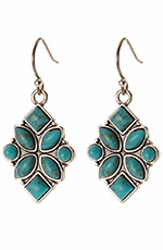 Lucky Womens Stone Drop Earrings - Turquoise