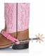 M&F Western Girl's Spur Set with Leather Strap & Buckle Closure - Pink