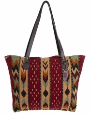 Manos Zapotecas Women's Gloria Tote Bag 'Journey' - Red