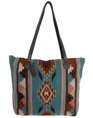 Manos Zapotecas Women's Gloria Tote Bag 'Semi Sweet' - Dusty Blue