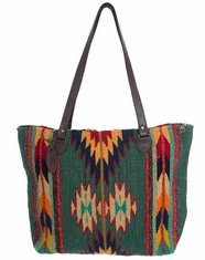 Manos Zapotecas Women's Gloria Tote Bag 'Two Worlds' - Blue