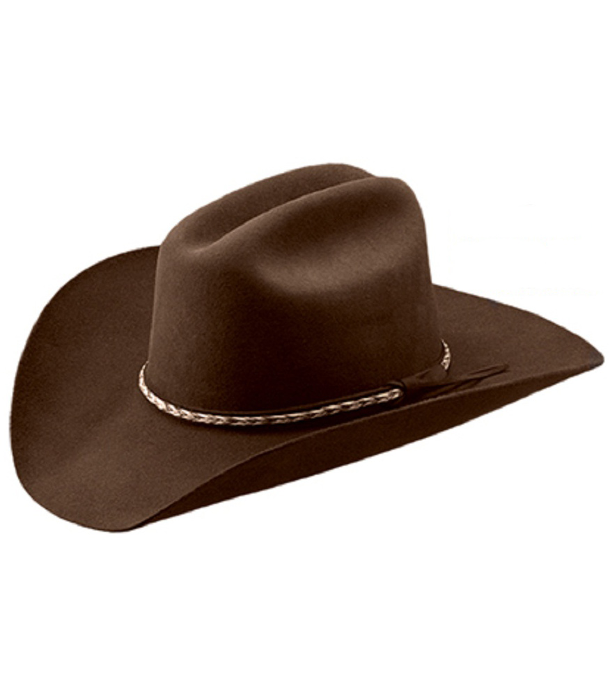master hatters quotbanditquot 3x cordova felt cowboy hat brown