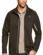 Ariat Men's Saga Zippered Softshell Jacket - Black (Closeout)
