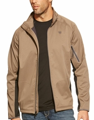 Ariat Men's Saga Zippered Softshell Jacket - Morel (Closeout)