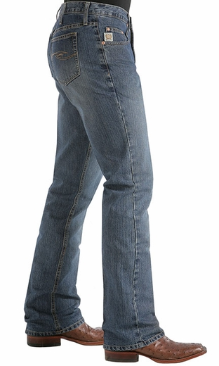 Cinch Mens Dooley Relaxed Fit Boot Cut Jeans - Light Stonewash