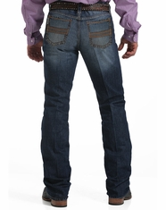 Men's Cinch Ian Mid Rise Slim Boot Cut Jeans - Dark Stonewash