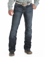 Men's Cinch Ian Slim Fit Boot cut Jeans - Dark Stonewash (Closeout)