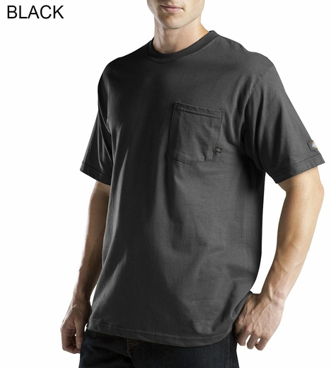 Men's Dickies Solid Short Sleeve Wicking Pocket Tee Shirt (Closeout)