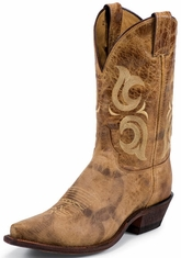"Men's Justin Bent Rail 11"" Cowboy Boots - Puma Tan"