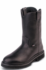 "Men's Justin Original Workboots - 10"" Black Pull-On"