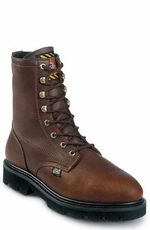 "Men's Justin Original Workboots - 8"" Tan LACE-R�"