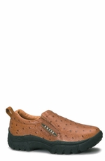 Men's Roper Slip On Shoes - Tan Ostrich
