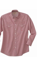 Miller Ranch Men's Long Sleeve Print Button Down Western Dress Shirt - Red