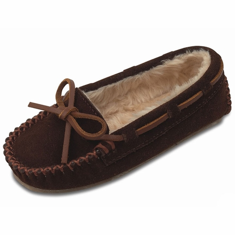 Minnetonka Kid's Cassie Suede Slipper - 3 Colors